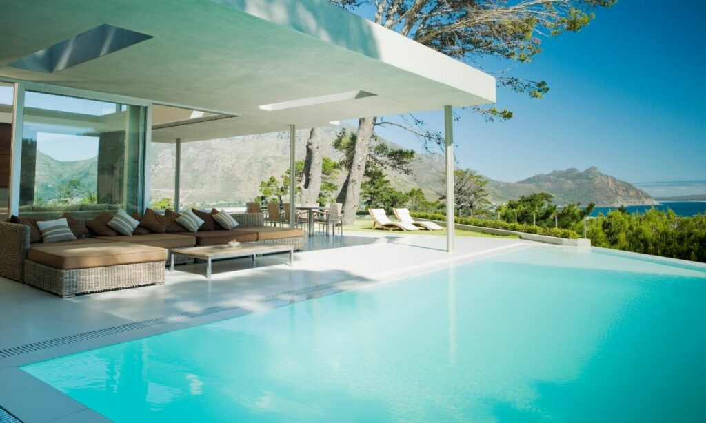 piscina infinita piedra
